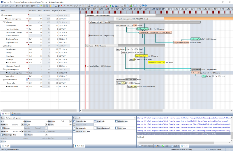 Create and maintain project schedules fast and easily.